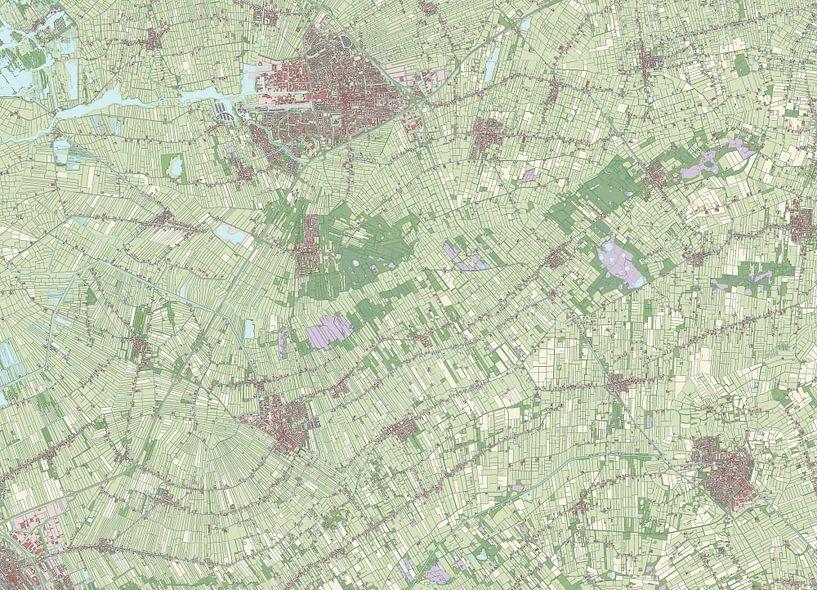 Kaart vanOpsterland van Rebel Ontwerp