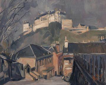 Bergab zum Edinburgh Castle von Nop Briex