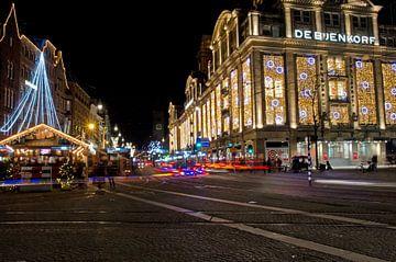 Kerstmarkt en De Bijenkorf van Remco Swiers