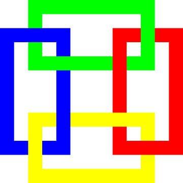 Onder en boven | Permutatie | ID=13 | V=45 | 4xO | P #01-W van Gerhard Haberern