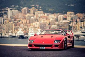 Ferrari F40 in Monaco van Ansho Bijlmakers