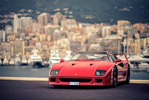 Ferrari F40 in Monaco von Ansho Bijlmakers