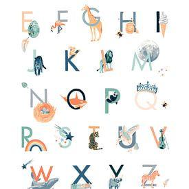 Alfabet Poster van Goed Blauw