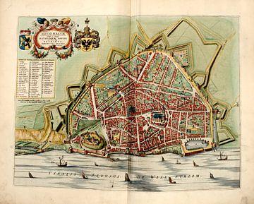 Nijmegen, Stadsplattegrond Joan Blaeu 1652 van Atelier Liesjes