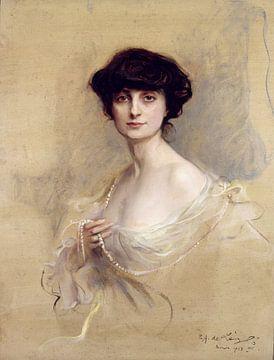 Gräfin Anna de Noailles, Philip Alexius de Laszlo - 1913 von Atelier Liesjes