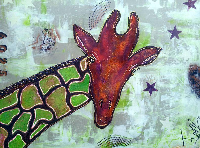 Giraffe van Femke van der Tak (fem-paintings)