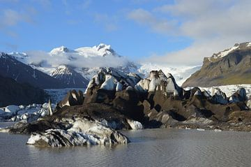 Skaftafell gletsjer ijsland van