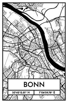 Bonn - Stadsplattegrond ontwerp stadsplattegrond (Retro) van ViaMapia