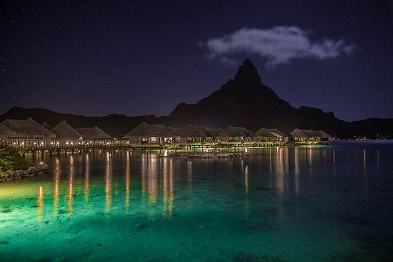 Bora Bora in de nacht