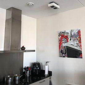 Klantfoto: Rotterdam van Jole Art (Annejole Jacobs - de Jongh), op aluminium