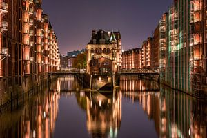 Wasserschloss in de Speicherstadt, Hamburg van