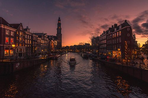 Sunset Prinsengracht (Amsterdam) van