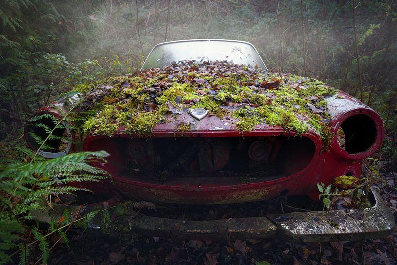Volvo im Nebel von Kristof Ven