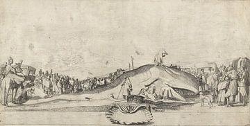 Gestrande walvis bij Noordwijk op 28 december 1614, Willem Pietersz. Buytewech