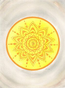 Navel Chakra Mandala Manipura van Sandra Steinke