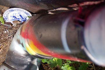 graffiti&delftsblauw#1 van Nellie de Boer