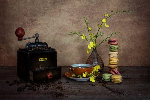 Koffiemolen met macarons