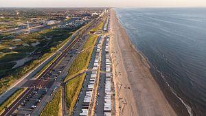 Strandhuisjes aan de Noord-Zee I Zandvoort, Noord-Holland I Drone-fotografie