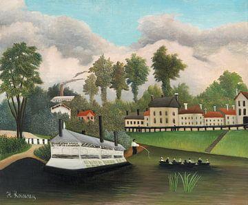 Waschplatz Pont de Charenton, Henri Rousseau (ca. 1895) von Atelier Liesjes