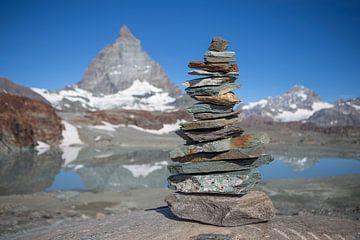 Matterhorn met steenman van
