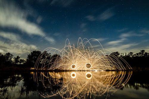 Lightpainting 8 van Eugene Klinkenberg