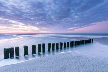 Pastelltöne bei Sonnenaufgang - Natürliches Ameland von Anja Brouwer Fotografie