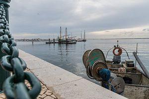 Vissersboot in Olhão, Portugal
