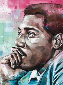 Otis Redding schilderij van Jos Hoppenbrouwers