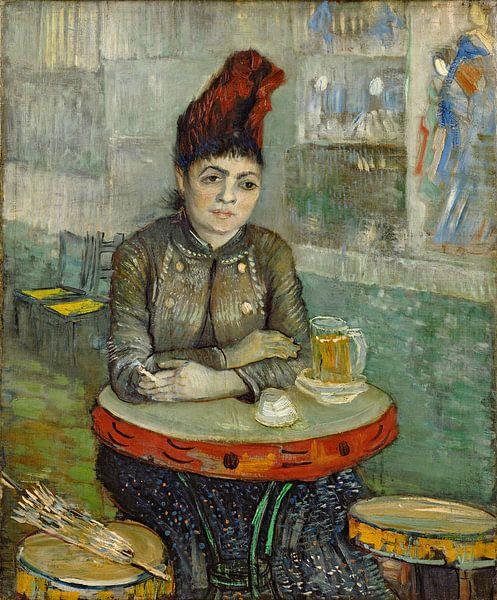 Vincent van Gogh. Agostina Segatori Sitting in het Café du Tambourin van 1000 Schilderijen