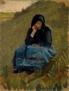 Eine Feldpredigt. Figurenstudie, Anna Ancher