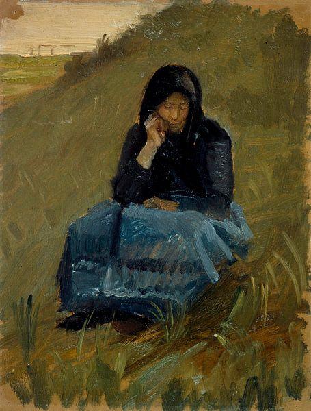 Eine Feldpredigt. Figurenstudie, Anna Ancher von Meesterlijcke Meesters