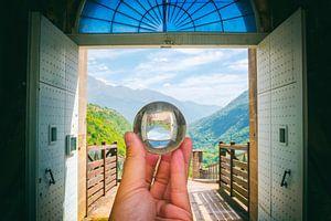 Open de poort voor de glazen bol