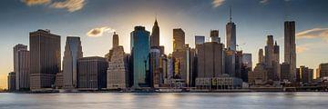 Manhattan Skyline New York Setting Sun sur Remco Malestein