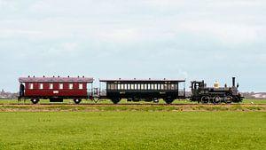 Bello avec train local I Musée Tramway à vapeur Hoorn - Medemblik I Hollande du Nord I Vintage