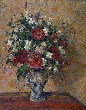 Camille Pissarro-Now lebt immer noch mit Pfingstrosen und falscher Orange