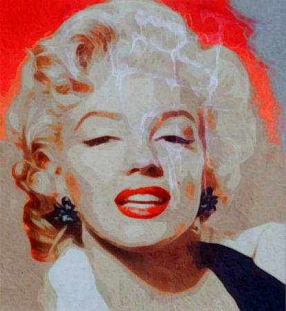 Marilyn Monroe - Orange Beige Vintage Beat