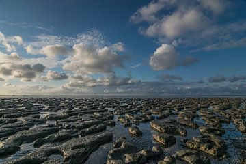 Hollandse lucht boven de waddenzee