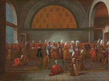 Das Essen, das Botschafter Cornelis Calkoen, Jean Baptiste Vanmour, um 1727 - um 1730 angeboten wurd