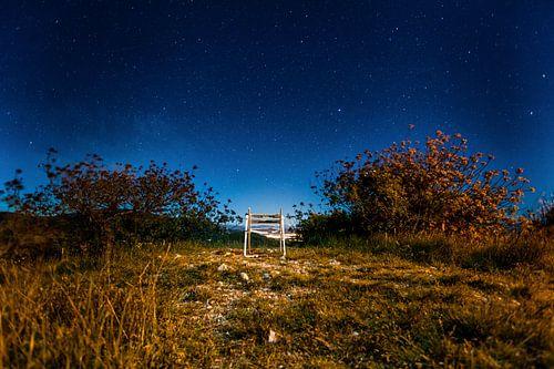 Sterrenkijken vanuit een stoel