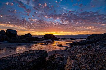 Zonsondergang, Bloubergstrand Beach, Zuid-Afrika