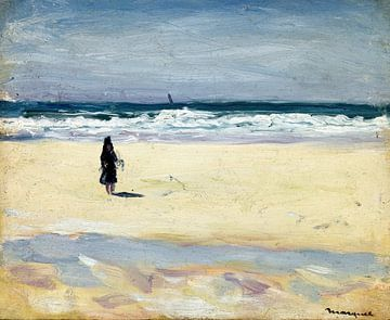 Junges Mädchen am Strand, Albert Marquet, 1898