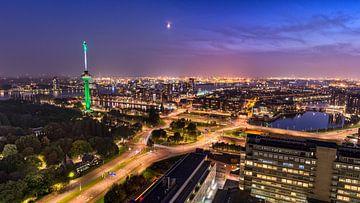 Skyline Rotterdam met Euromast en haven von Prachtig Rotterdam