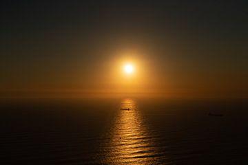 Zonsondergang Cape Town van Sander Huizinga
