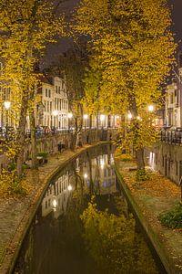 Nieuwegracht in Utrecht in de avond - 8