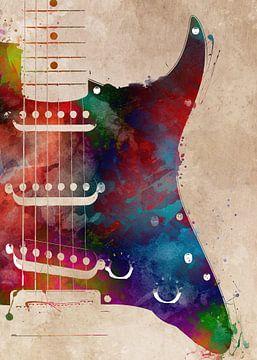 Gitarre 19 Musik Kunst #Gitarre #Musik von JBJart Justyna Jaszke