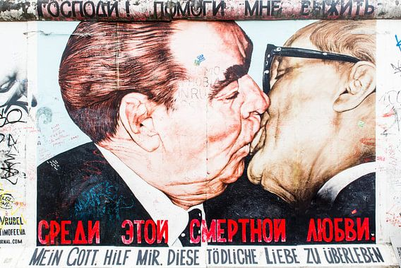Socialistische broederkus van Steve Van Hoyweghen