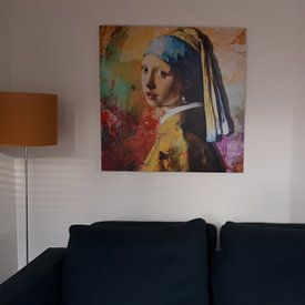 Photo de nos clients: Meisje met de Parel - The Full Colour Edition sur Marja van den Hurk, sur aluminium
