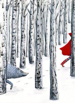 Roodkapje en de boze wolf von Marieke Nelissen