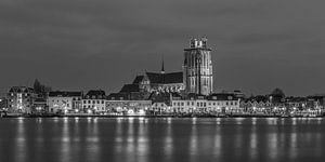 Grote Kerk in Dordrecht in zwart-wit - 2