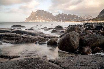 Uttakleiv Beach Lofoten Norway van Ab Wubben
